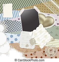 vector scrapbook template design