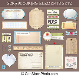 Collection of various scrapbooking vector elements and Templates.
