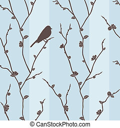 Vector seamless pattern with bird o