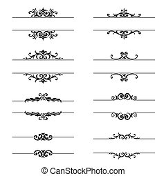 Vector - Set of calligraphic design elements and page decor