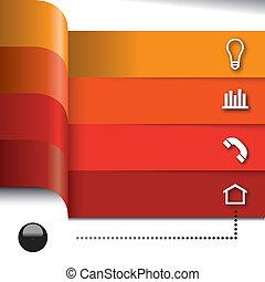 Vector set of infographics elements