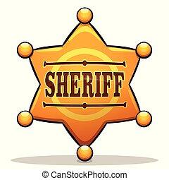 Vector sheriff badge color design