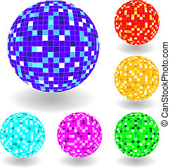 Vector shiny spheres