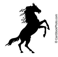 vector silhouette horse