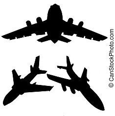 vector silhouette plane