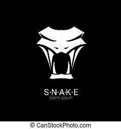 vector snake simple logo design element. danger snake icon. viper symbol