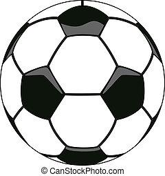 vector illustration of soccer ball clipart
