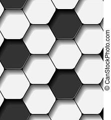 vector soccer ball seamless pattern