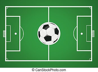 vector soccer ball with soccer field