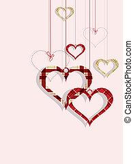 St Valentine day's greeting card