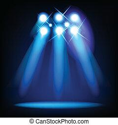 Vector Stage Lights. Vector illustration