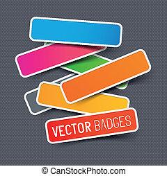 Vector sticker collection