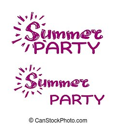 vector summer party clip art