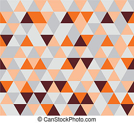 Vector tile flat triangle pattern