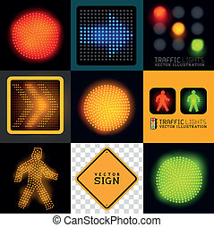 Vector Tracffic Lights Collection