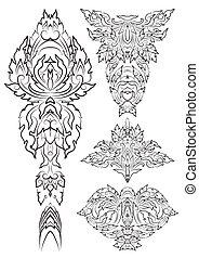 vector vintage design elements for page decorations