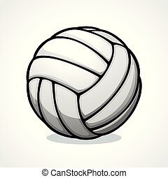 Vector volleyball ball icon design