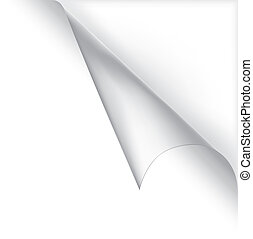 Vector white curled corner