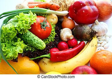 Vegetarian food. Fruits and vegetables. Still life