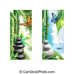 Vertical banners with background of a SPA
