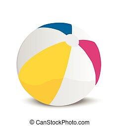 illustration of a beach ball