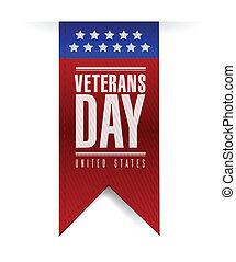 veterans day banner illustration design