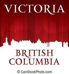 Victoria British Columbia Canada city skyline silhouette. Vector illustration