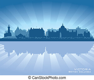 Victoria, Canada skyline with reflection in water