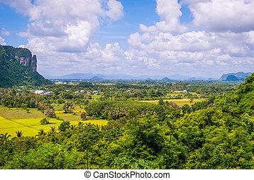 View around Phatthalung Rock, Thailand