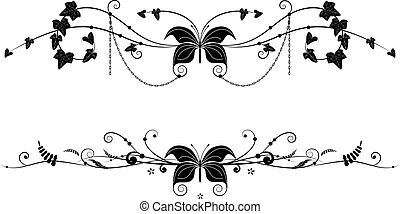 vignettes with butterfly