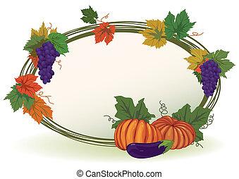 vine and pumpkins