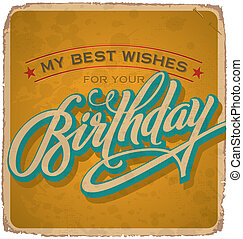 vintage birthday card (vector)