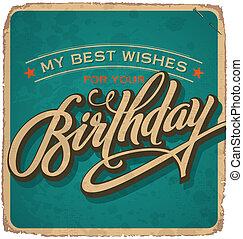 vintage birthday card (vector)