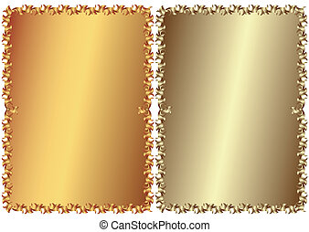Abstract floral vintage frames on white background (vector)