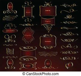 Vintage calligraphic design elements. Vector