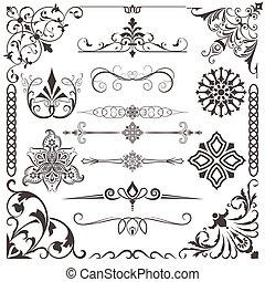 Vintage calligraphic vector design elements