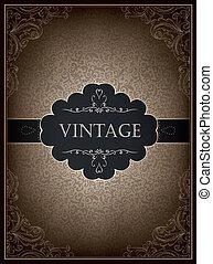 Vintage card design template, vector.