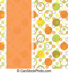 card design with colorful polka dot