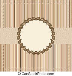 Vintage Card or package design. EPS 8