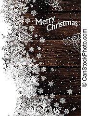 Vintage Christmas Greeting card. Vector