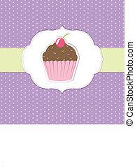 Vintage Cupcake Sticker