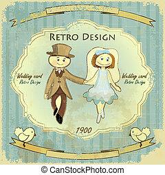 Vintage Design Wedding Card