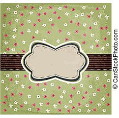vintage floral card design