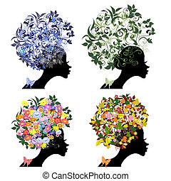 vintage floral hairstyle seasons