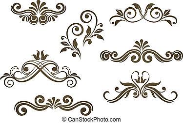 Vintage floral motifs