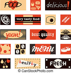 vintage food pictures and titles