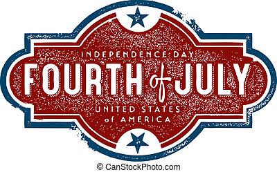 Vintage Fourth of July Sign