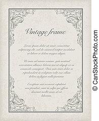 Vintage frame template. Vector, EPS10