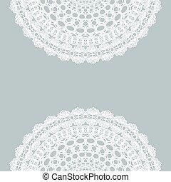 Vintage lace invitation card.