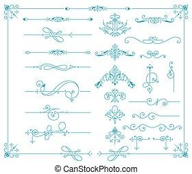 Vintage Ornaments Decorations Design Elements. Vector stock